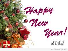Happy New Year 2015 Christmas tree