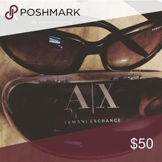 Authentic Armani Exchange Sunglasses Used pair of Authentic Armani Exchange Sunglasses with some wear, some smudge/scratch on lens (do not impaired vision) it comes with case in photo. Purchased years ago from Nordstrom in Annapolis MD A/X Armani Exchange Accessories Sunglasses