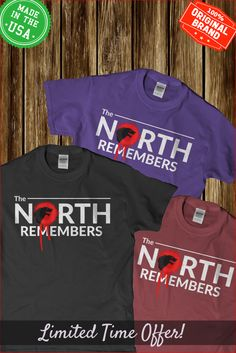 the north remembers shirt game of thrones t shirts,t shirt, tshirt, shirts,shirt…
