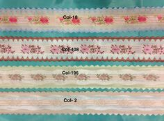 French Vintage Floral Ribbon with Scalloped Edge- Pattern. Made in France in the 1960's, Sold by the Yard. by AnafrezNotions on Etsy