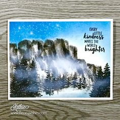 Misty Mountains -Created using Waterfront Stamp Set #mountainscene #waterfrontcard #stampinup #crafts #crafting #cardmaking #papercrafting #stamping #homemade #stamping #mountains #mist