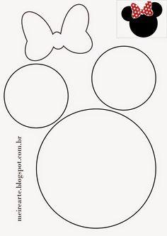 .::Meire Arte: Molde Cabeça da Minnie                              …