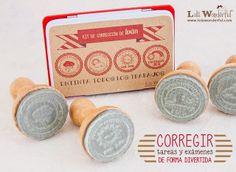 Lola Wonderful_Blog: Regalos para profes, personalizados. KIT DE CORRECCIÓN SELLOS PERSONALIZADOS