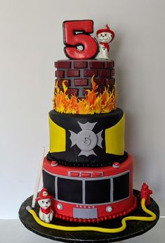 Birthday Cakes_Children's Birthday Cake Kids Boys, Truck Birthday Cakes, Fire Fighter Cake, Character Cakes, Cake Pictures, Novelty Cakes, Cake Boss, Occasion Cakes, Cute Cakes