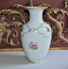 Add your favorite seasonal flowers and create a stunning floral display!  GDR Porcelain Vase byPeriodElegance, $50.00, www.PeriodElegance.etsy.com