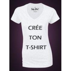 Crée ton t-shirt - modèle femme