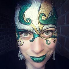 Glitter Galore mask inspired by Mark Reid facepaint
