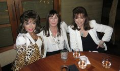 With Angelica Huston and Joan