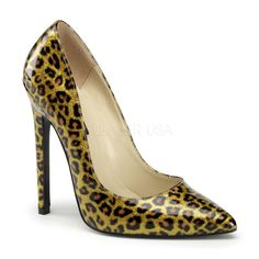 Pleaser Sexy 20 in gold pearlized is a striking pump with a stiletto heel and a pointed toe. Heel Height: 5 Inch Fit: True to Size Clearance Item ALL SALES ARE FINAL Patent High Heels, Shoes Heels Pumps, Stiletto Pumps, High Heels Stilettos, Peep Toe Pumps, Patent Shoes, Women's Sandals, Sexy Heels, Heel Boots