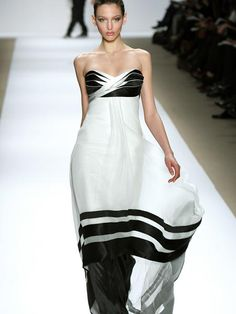 Black and white dress is full of sophistication in the winter of Carlos Miele- Abril.com
