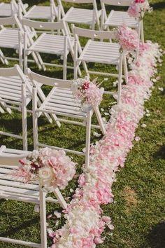 Un pasillo rosa para tu boda