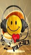 So who knew Smiley liked music? Kinds Of Music, My Music, Music Gif, Music Songs, Smiley Emoticon, Foto Gif, Emoji Symbols, Emoji Images