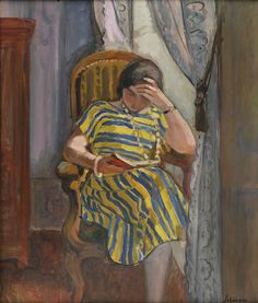 La lecture - Henri Lebasque (French, 1865-1937) Post-Impressionism