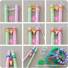 DIY Easy Colorful Rubber Band Bracelet-- nice gift idea !  Directions--> http://wonderfuldiy.com/wonderful-diy-colorful-rubber-band-bracelet/