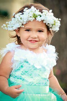 #BabysBreath #Crown #FlowerGirl Hair Crown Woodland Flower Crown Flower Girl Halo Wedding Hair Flower Wedding Season Bridal Hair by ChildrensCandyKC on Etsy