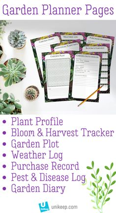 The UniKeep Garden Journal Binder is a handy tool to organize your plant details. With plenty of garden journal pages to keep you on track you can rest assured that your plants stay happy and healthy! Diary Template, Journal Template, Cool Diy, Free Garden Planner, House Plant Care, Garden Journal, Small Space Gardening, Garden Planning, Stay Happy