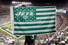 NY Jets Flag 3' x 5' Stars & Stripes Banner