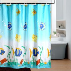 Tropical Fish Shower Curtain Hooks