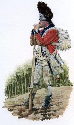 Royal Welsh Fusiliers Battle of Guilford Courthouse 1782 British Army Uniform, British Uniforms, British Soldier, American Indian Wars, American War, American History, Military Units, Military Art, Military History