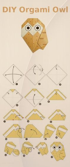 origami diagram ... cute with two sided paper ... children could do ...