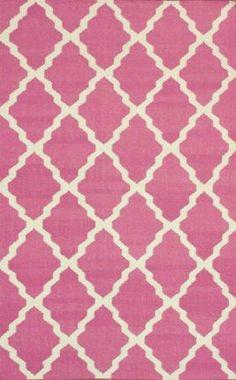 Rugs USA Tuscan Moroccan Trellis Flatwoven Pink Rug