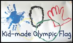 Celebrating the Olympics with a Kid-made Olympic Flag