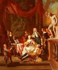 Angellis, Pieter (1685-1734) - A Musical Assembly, 1719,