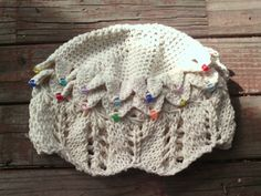 Scallop+Knit+Lace+and+Crocodile+Scale+Crochet+Cloche+with+or+without+beads+by+EccentricHats+on+Etsy