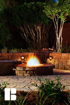 Both beautiful and functional, you can't go wrong with an outdoor fire pit. Sidewalk Landscaping, Fire Pit Designs, Outdoor Fireplaces, Sidewalks, Outdoor Living, Outdoor Decor, Fire Pits, The Great Outdoors, Living Spaces