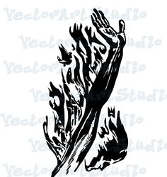 "SVG, Digital art, png, dxf, ""arm flame', Clipart, Vector Art, instant download design for cricut or silhouette by VectorArtStudio on Etsy"