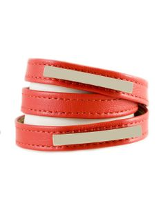 red bracelet #accessorize #fashion #spring2014 #handmade #leather