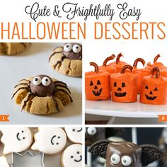Just because a homemade Halloween treatis super cute doesn't mean it has to be hard to make. All of these cookies, cupcakes, brownies, and even the truffles are a cinch to createand decorate – no advanced skills (or fondant) required! Ghosts, pumpkins, mummies, bats, spiders ...