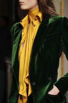 Green & mustard yellow