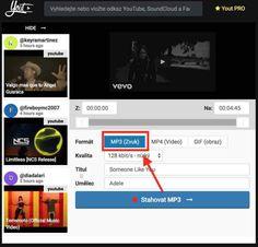 Jak stáhnout video z Youtube za 3 vteřiny a bez programu! Someone Like You, Techno, Education, Youtube, Onderwijs, Techno Music, Learning, Youtubers, Youtube Movies