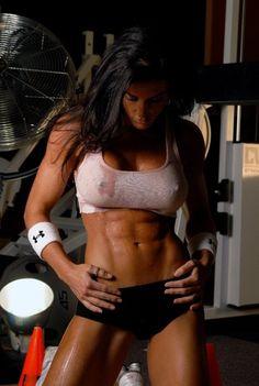 She has nice abs :-)