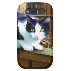 Black and white cat galaxy SIII covers   #cat #gifts #cats #phone #covers #cellphone