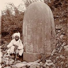 1910 :: Colossal #Shivalinga In Baramulla , Kashmir (Photo - ASI Archive/ Mapin Publishing) #Indianhistory #hindu #history #india #jammu #baramulla #kashmir #varanasi #allahabad #kashi Pic 2 — Century Old Same Shivlinga In Baramulla , Exact Location Unknown. Tantra, Wine Wallpaper, Spiritual Figures, Indian Temple Architecture, Shiva Linga, Kashmir India, Vedic Mantras, India Facts, History Of India