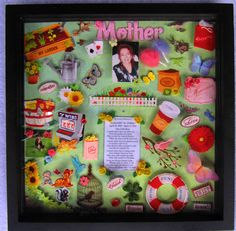 Shadow Box in Memory of Mom.  #ideas #funeral #memorial #tribute Heritage Funeral Homes, Crematory and Memorial Parks, Arizona