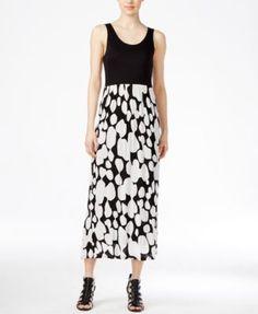 kensie Contrast-Print Maxi Dress | macys.com
