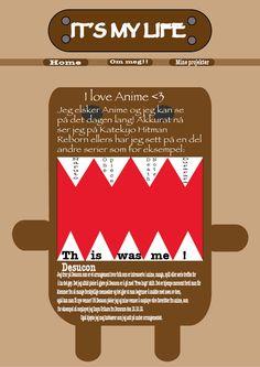 Dette er designet på min webside.