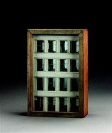 Artwork by Joseph Cornell, Untitled (Window Facade), Made of wood box construction--painted wood