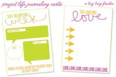 I like the card on the left for a journaling prompt