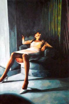 Thomas Saliot, Blue velvet, oil on canvas