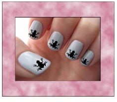 Frogs Nail Art Water Slide Transfers Animal by RockinNails on Etsy, $3.49