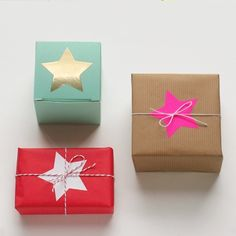 Large Star Stickers Twinkling star stickers perfect for gift packaging, and special craft projects.All stickers (except gold) have a matte finish so you can write on them and decorate. Wrapping Gift, Gift Wraping, Creative Gift Wrapping, Christmas Gift Wrapping, Creative Gifts, Wrapping Ideas, Christmas Presents, Pretty Packaging, Gift Packaging