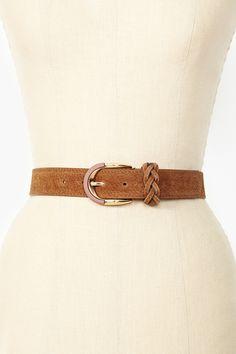 Spade Leather Belt in Tan
