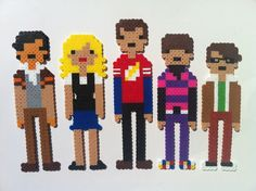 Perler Bead Big Bang Theory Characters - Wall Art, Magnets, or Christmas Ornaments.  This is one of our most popular items! Out of the Park Art @ Etsy.com