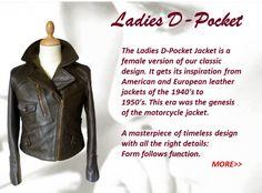 Pegasus D-pocket cafe racer safari horsehide leather motorcycle jackets