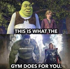 Only if you spend years in gym or take steroids - - More memes, funny videos and pics on Funny Disney Jokes, Funny Marvel Memes, Funny Animal Jokes, Dc Memes, Marvel Jokes, Crazy Funny Memes, Funny Puns, Really Funny Memes, Funny Laugh