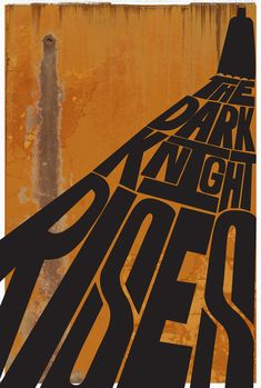 The Dark Knight Rises #poster #movies #desing
